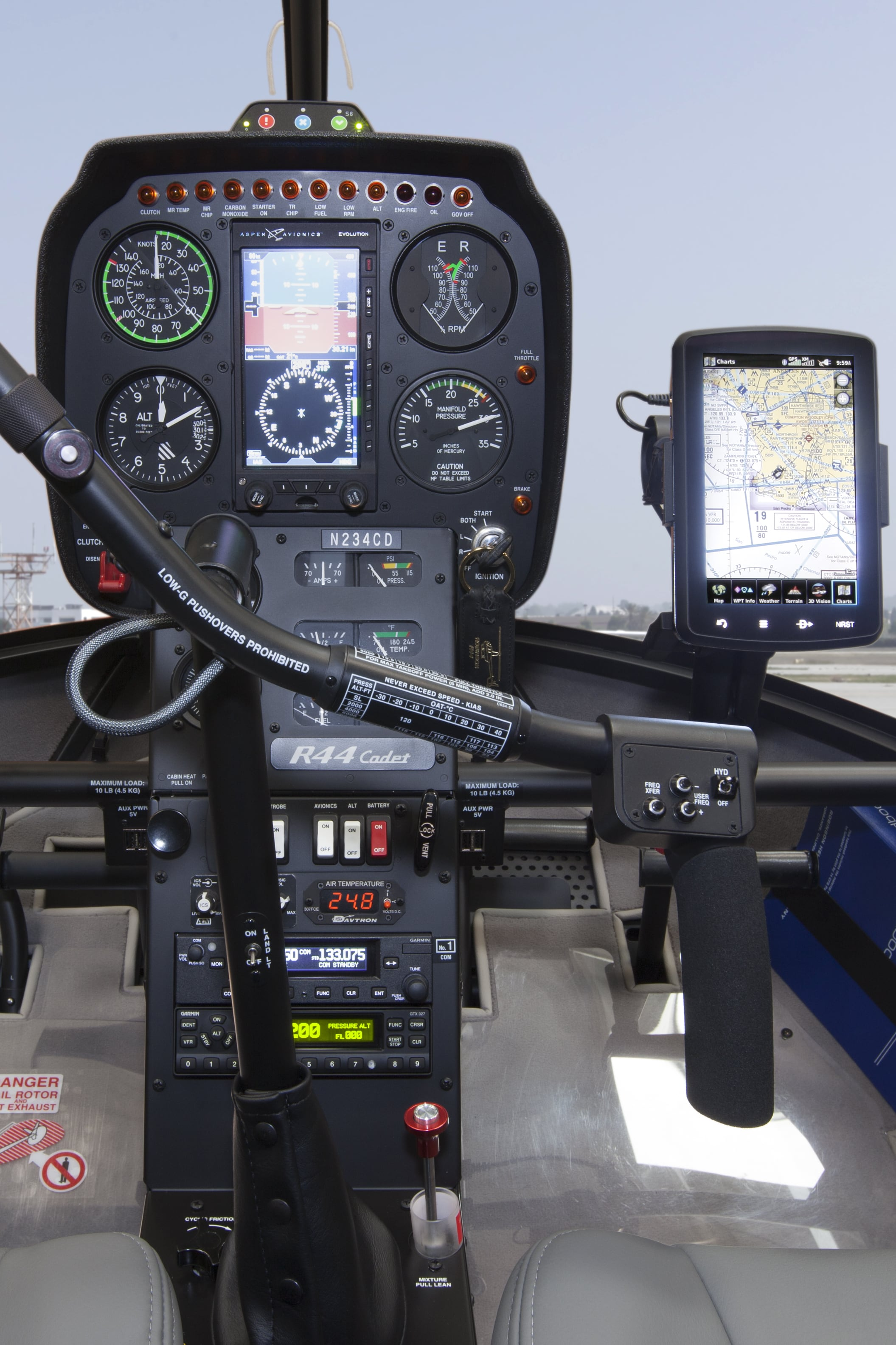 R44 cadet instrument panel portrait hi res image